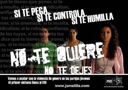 Campaña contra la violencia de género a los jóvenes