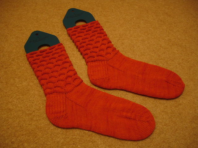 Extremely orange circle socks (3)