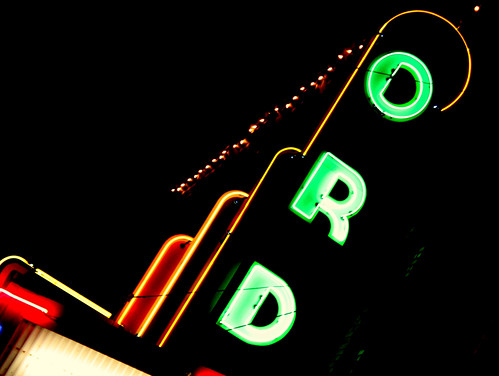 Old Ord Theatre Neon Sign