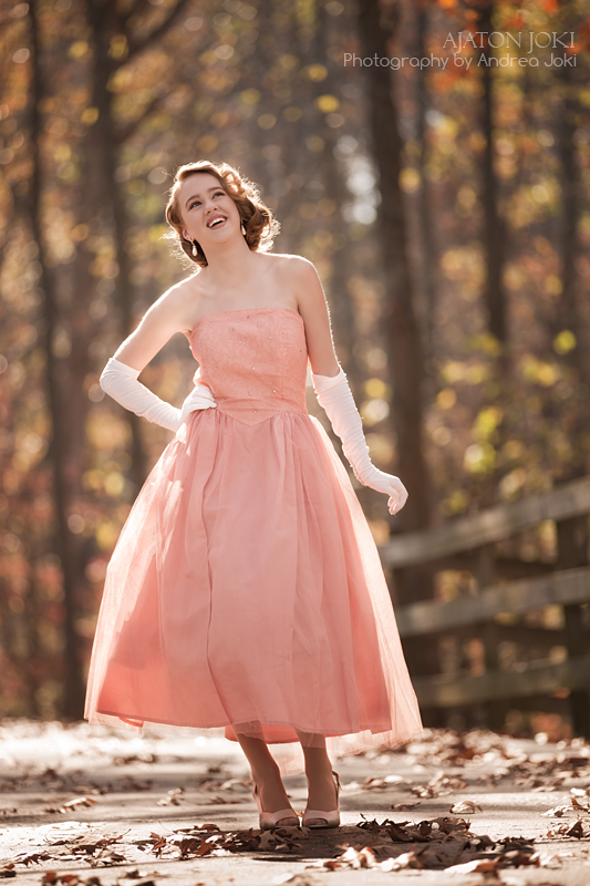 1951 grace kelly inspired prom dress shoot in vintage