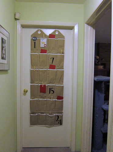 Advent Calendar from Shoe holder