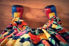 Visão (Dé Zarpelon) Tags: color floral colors cores shoes colorful colore circo circus couleurs clown colores zapatos clothes payaso colori cirque cor creatividad prendas scarpe chaussures sapatos roupas colorido criatividade palhaços vetements creativite colorato criativity colorie crativita