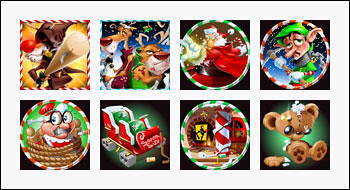 free Return of the Rudolph slot game symbols