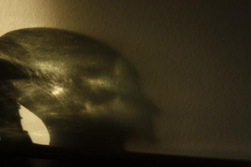 sun on glass head
