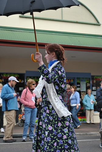 SHYAC's own 'Mary Poppins' (Melissa McShane) in the 2010 Tulip Time parade