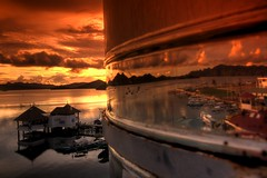 Coron at Sunset, Palawan (maciej.ka) Tags: ocean sunset reflection metal asia philippines union dream beachlife insel western tropic coron isle daydream tropics visayas malay philipines equator paradiseisland pilipinas palay palawan isola sueno barell le aklan traum blueocean songe desiderio dreambeach insula thevisayas malayaklan aklanphilipines boracayphilipines