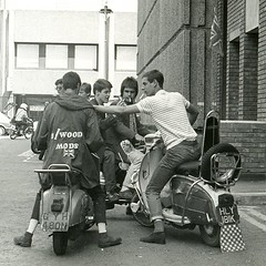 Mods on scooters in London, 1979 (Paul-M-Wright) Tags: scooter carnabystreet 1979 mods parka paulwright secretaffair modrevival lyndallhobbs