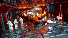Death Star Destroyed (Legoagogo) Tags: starwars lego stormtrooper deathstar moc lifeonthedeathstar