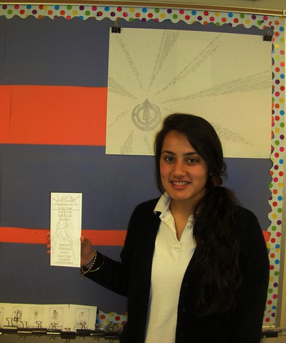 Jaspreet of Notre Dame High School and her winning bookmark