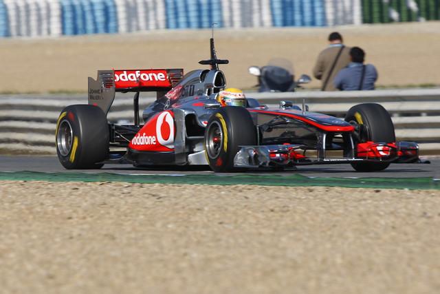Hamilton in the McLaren