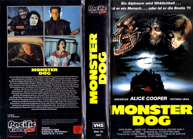 Monster Dog (VHS Box Art)