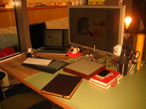 My desk, February 2011.