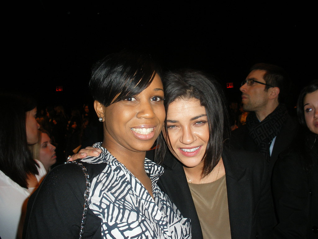 Monique Tatum at NYC Fashion Week 2011 with Jessica Szhor