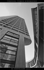 vesteda toren (Rogier Coppejans) Tags: blackandwhite bw reflection architecture photoshop zwartwit toren nederland eindhoven adobe architectuur noordbrabant spiegeling coppejans vesteda cs5