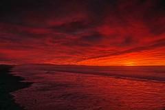 Sunrise Waikuku Beach New Zealand (Maureen Pierre) Tags: cloudsstormssunsetssunrises cloud sunrise colour light sun ocean view landscape waikukubeach newzealand beach