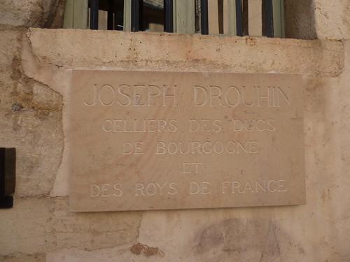 Musée du Vin de Bourgogne - Rue D'Enfer, Beaune - plaque - Joseph Drouhin