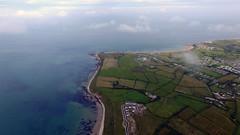 Rosslare Harbour Beach, Co. Wexford (D.B Ariel Photography) Tags: rosslare wexford ireland beach clouds sea drone dji djiphantom3pro arielphotography summer fields