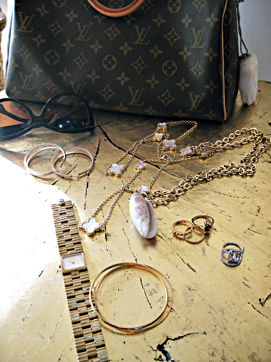 louis vuitton+gold accessories