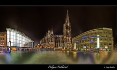 Cologne Cathedral (Eddy Blokhuis ) Tags: panorama canon eos nightshot cathedral dom cologne plein koeln koln hdr cs4 photomatix eddyblokhuis ditisnietbepaaldeenrustigefoto