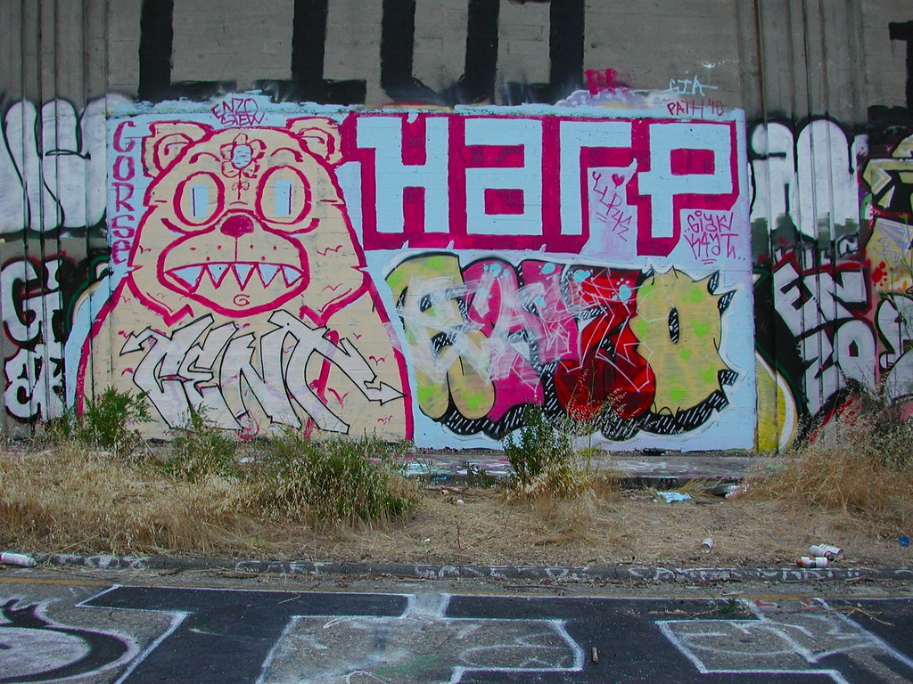 GORSE, HARP, GIA, Graffiti, the yard, Oakland