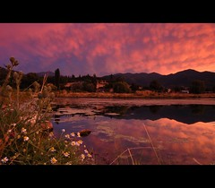 Siskiyou Sunset (~Mike Potts Photography~) Tags: sunset oregon landscape pond july talent daisy siskiyou mammatus roguevalley bullthistle wagnerbutte andersonbutte oregonthunderstorms