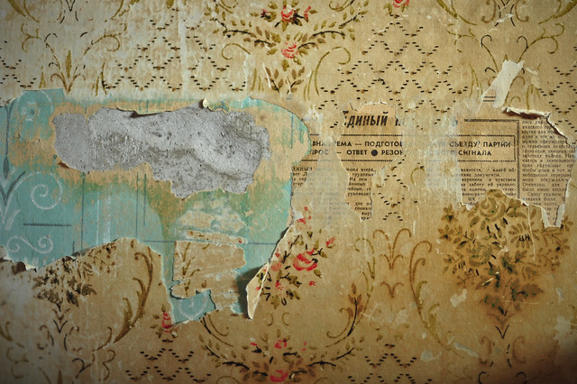 rusian wallpaper. Peeling Russian Wallpaper