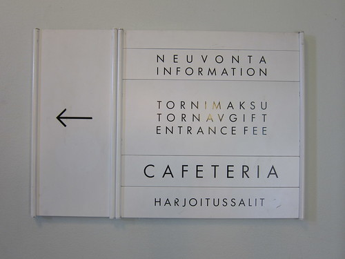 Sign in Olympiastadion Helsinki Olympic Stadium