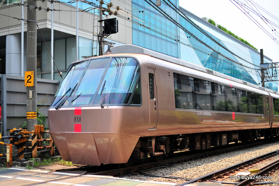 The EXE train rolls through Yoyogi