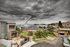A very fake Tornado... (bivoir) Tags: beach clouds photoshop centralcoast tornado hdr terrigal photomatix fotocompetitionfotocompetitionbronze