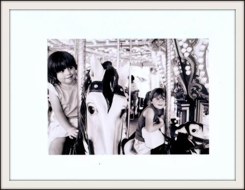 Ashley and Sarah on carousel
