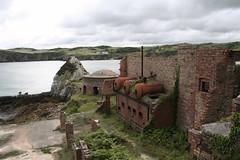 Decaying Industry (j.a.holland) Tags: uk sea summer holiday brick wales island coast ruins britishisles britain ruin brickworks kiln anglesey porthwen angleseyjuly10