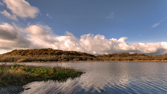 Clouds reflected (Etrusia UK) Tags: uk trees water leaves river geotagged nikon lough unitedkingdom wideangle bluesky down vegetation northernireland ni 1020mm climate hdr pictureperfect ulster d300 strangfordlough codown loughneagh downpatrick sigmalens photomatix 1020mmlens 5xp sigma1020mmlens nikond300 grassandplants quoilecountrysidecentre geo:lat=54340448 geo:lon=571671