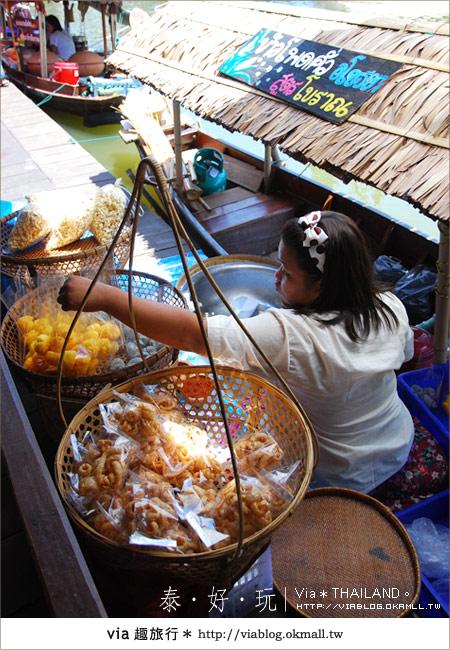 【泰國小吃】泰好吃~大城水上市場美味小吃呷通海!12