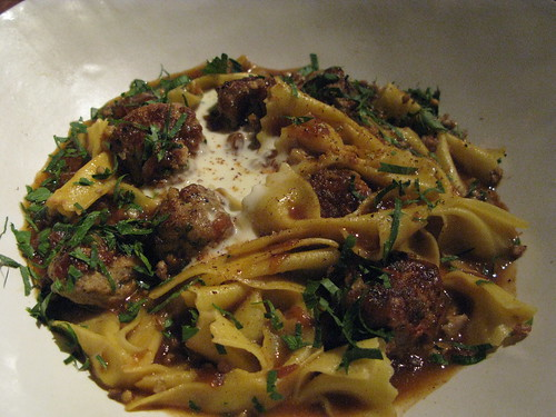 ABC Kitchen's Bowtie Pasta w Meatballs