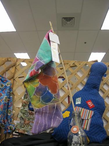 Lil' Mermaid's batik fish flag