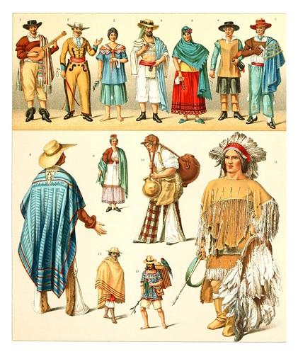 028-Mexicanos -Geschichte des kostüms in chronologischer entwicklung 1888- A. Racinet
