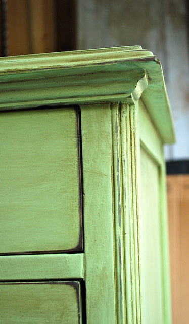 green glazed dresser