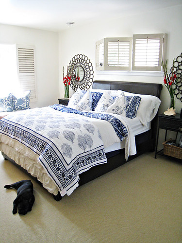 blue and white bedding master bedroom ideas tropical beach style
