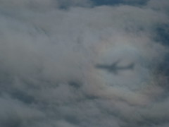 747-400 Shadow on Clouds