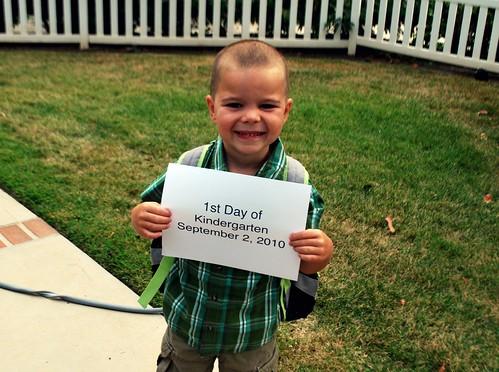1st Day of Kindergarten 2010