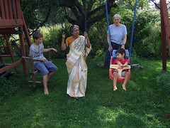 Swinging with Thamma and Nainai