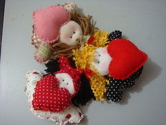 chaveirinhos fofos!!!!!!! (Miss Lele 2011) Tags: coração feltro chaveiro