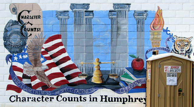 Character Counts in Humpreys County mural