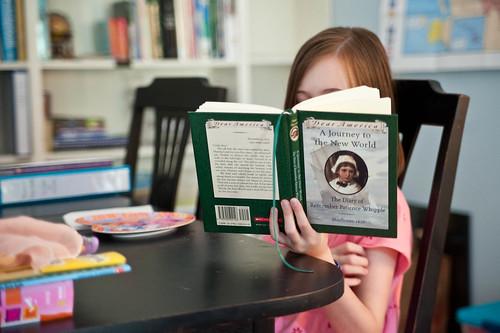 Kathryn behind book