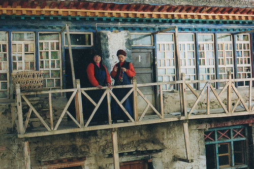 Nuns at Yeshe Tsogyal's nunnery in Tibet