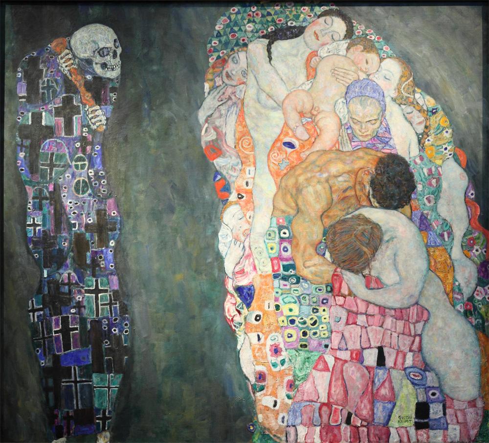 """Gustav Klimt, """"Tod und Leben"""" [""""Death and Life""""], 1910-15"""
