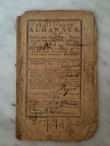 1804 New-England Almanack