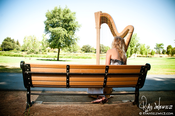 Alex and her Harp