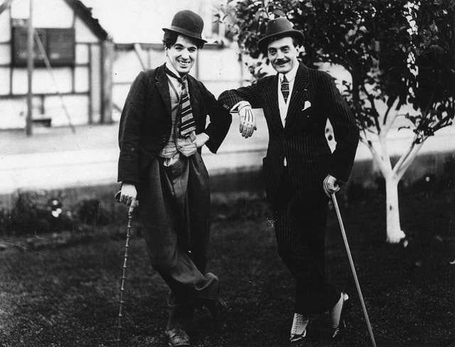 Charlie Chaplin and Max Linder