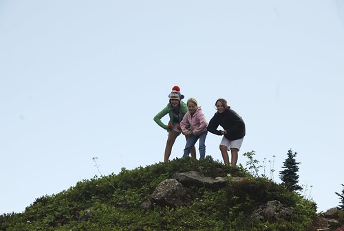 Strong girls on the mountain top!